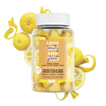 Love Beauty and Planet citrus crush vegan hair & skin dietary supplement