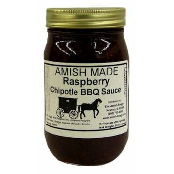 Amish Buggy BBQ Sauce, Raspberry Chipotle, 16 Ounce (Pack of 12)