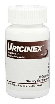 Hellolife Uricinex Normal Uric Acid Support Formula. All-Natural Uricinex Helps Reduce Uric Acid Imbalances that Lead to Attacks of Joint Discomfort, Redness and Swelling. Supports Normal Uric Acid. 1 Bottle - Direct from Manufacturer.