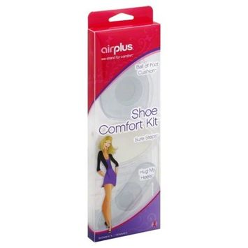 Airplus 3-in-1 Shoe Comfort Kit with Get Ball of Custion Cushions, Sure Steps and Hug My Heels, Women's, 1-Pair of Each