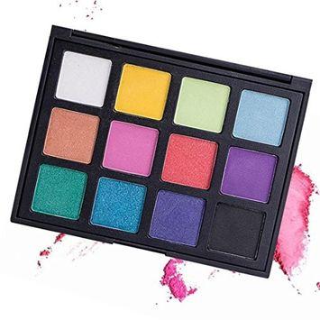 Eye shadow King WO Cosmetic Matte Eyeshadow Cream Eye Shadow Makeup Palette Shimmer Set 12 Color Beauty