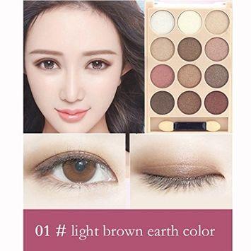 KingWo 12 Colors Women Professional Cosmetic Matte Eyeshadow Cream Eye Shadow Makeup Palette Shimmer Set
