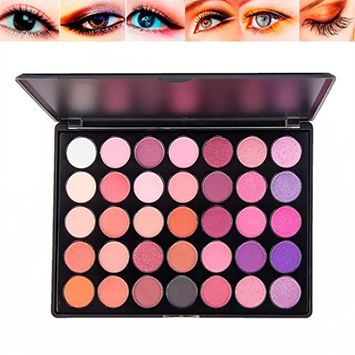 KingWo 35 Colors Shimmer Matte Eyeshadow Palette Nude Smoky Eye Shadow Powder Waterproof Cosmetics Makeup Set