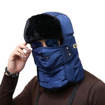 Unisex Detachable Lei Feng Cap Mask Scarves Cap One-piece Riding Windcap