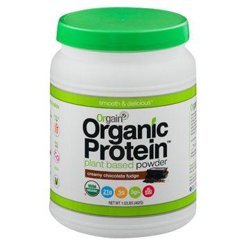 Orgain Organic Creamy Chocolate Fudge Plant Based Protein Powder - 16.32 oz