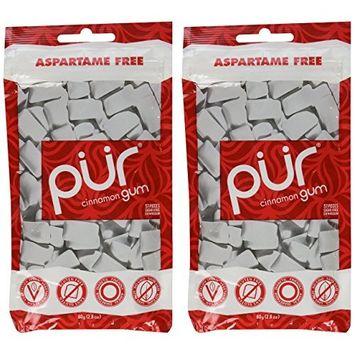 PUR Gum Cinnamon, 55 Count (pack of 2)