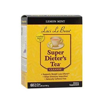 Laci Le Beau Super Dieter's Cleanse Tea Bags Lemon Mint60.0 ea(pack of 1)