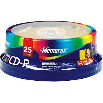 Memorex CD-R 700MB/80min 48x Spindle 25-Pack