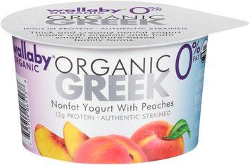 Wallaby® Organic Greek Nonfat Yogurt with Peaches