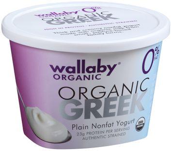 Wallaby® Organic Greek Plain Nonfat Yogurt
