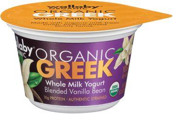 Wallaby® Organic Greek Blended Vanilla Bean Whole Milk Yogurt