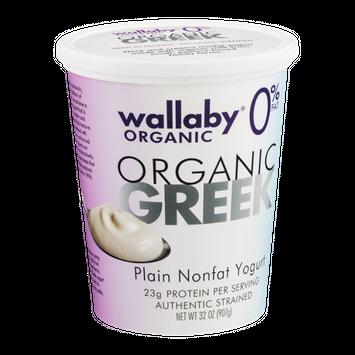 Wallaby Organic Greek Nonfat Yogurt Plain