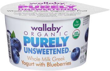 Wallaby® Organic Purely Unsweetened™ Whole Milk Greek Yogurt with Blueberries