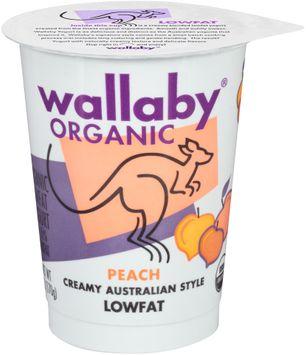 Wallaby® Organic Peach Lowfat Yogurt