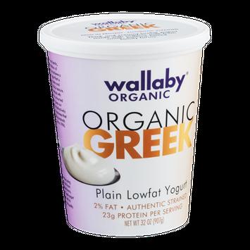 Wallaby Organic Greek Lowfat Yogurt Plain