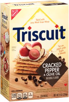 Nabisco Triscuit - Crackers - Baked Whole Grain Wheat Cracked Pepper & Olive Oil