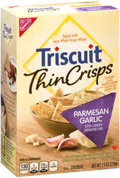 Nabisco Triscuit - Crackers Thin Crisps - Baked Whole Grain Wheat Parmesan Garlic