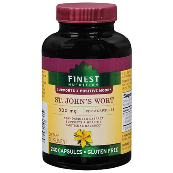 Finest Nutrition St. John's Wort 300 mg Dietary Supplement Capsules