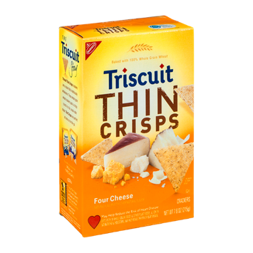 Nabisco Triscuit - Crackers - Thin Crisps Four Cheese