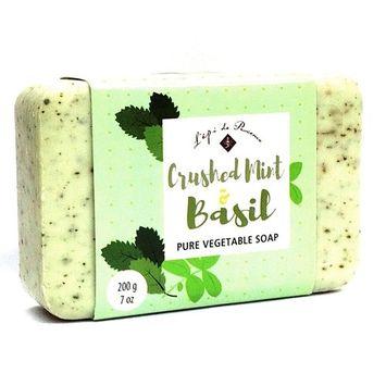 French Soap - Crushed Mint & Basil- by L'epi de Provence - 200 gr. Bar