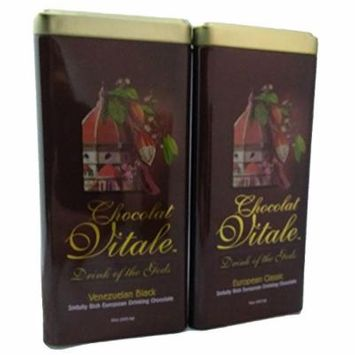 Two-pack European Classic / Venezuelan Black Drinking Chocolate