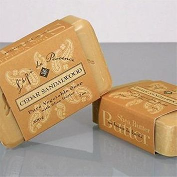 Cedar Sandalwood Bar Soap by L'epi de Provence - 200 g (7 oz) Bar