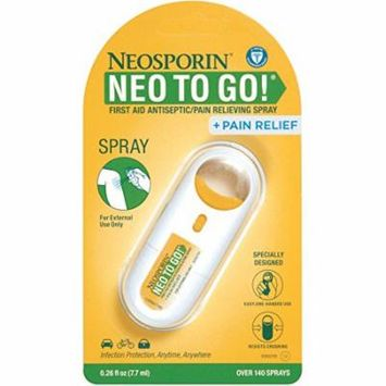 Neosporin Neo To Go Spray + Pain Relief 0.26oz Each