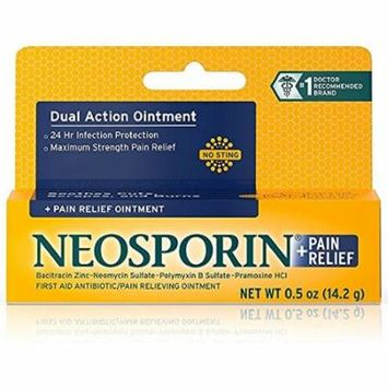 Neosporin + Pain Relief Ointment 0.50 oz (Pack of 3)