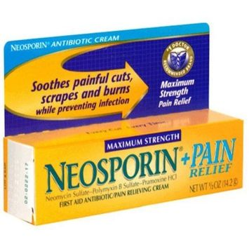 Special Pack of 5 NEOSPORIN PLUS OINTMENT MAX STRENGTH 0.5 oz