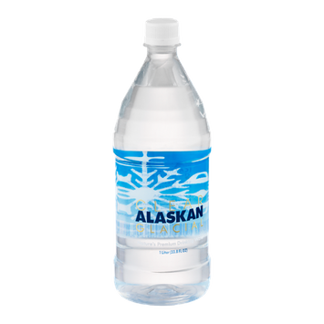 Clear Alaskan Glacial Drinking Water