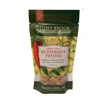 Stony Brook Pepitas, 3 ounce bags (Pack of 12) (Sweet Chili Butternut Pepitas)