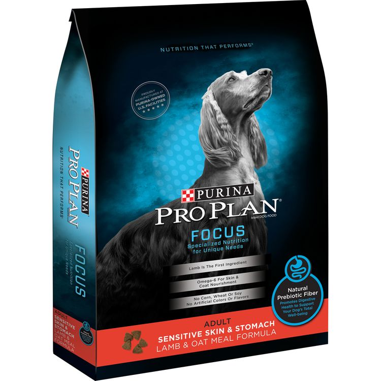 Purina Pro Plan FOCUS Sensitive Skin & Stomach Lamb & Oat Meal Formula Adult Dry Dog Food - 4 lb. Bag