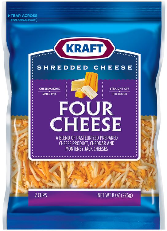 kraft four cheese shredded cheese
