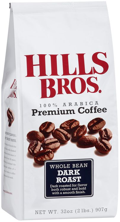 hills bros 100% arabica dark roast whole bean premium coffee