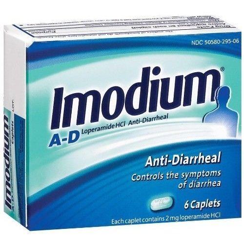 Imodium A-D Caplets, 6ct