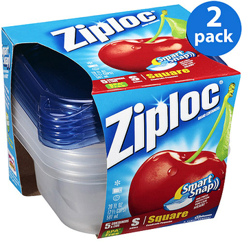 Ziploc Smart Snap Small Square Containers & Lids