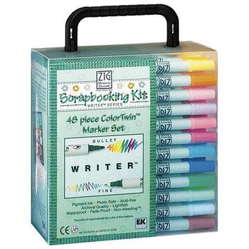 EK Success ZIG Memory System Writer ColorTwin Marker Set 48 Pieces