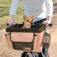 Snoozer Pet Bicycle Basket Pink