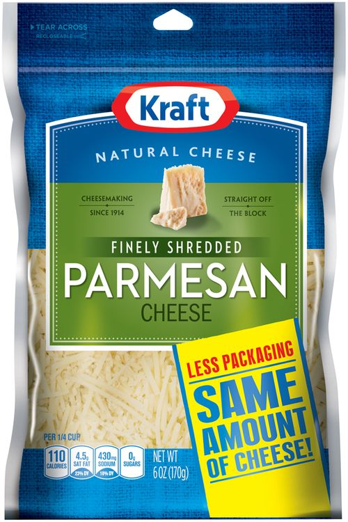Kraft Natural Cheese Parmesan Shredded Cheese