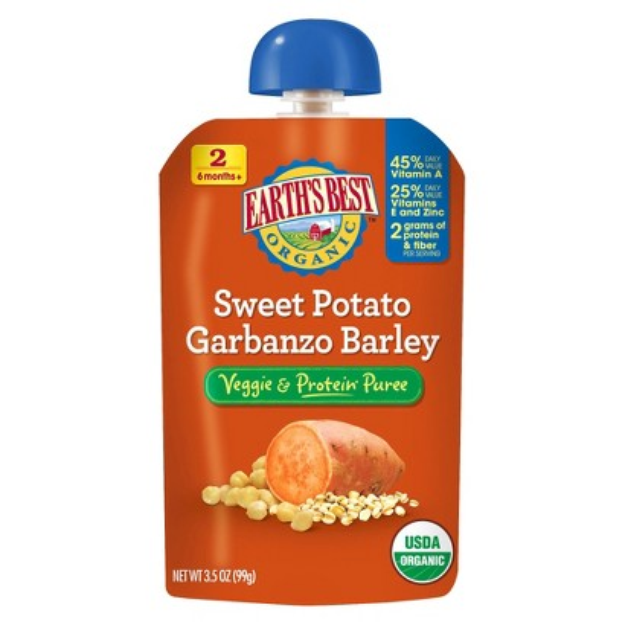 Earth's Best Veggie and Protein Puree - Sweet Potato Garbanzo Barley
