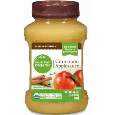 Simple Truth USDA Organic Cinnamon Applesauce 24 Oz. Bottle (Pack of 2)