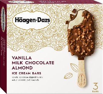 Haagen-Dazs Vanilla Milk Chocolate Almond Ice Cream Bar