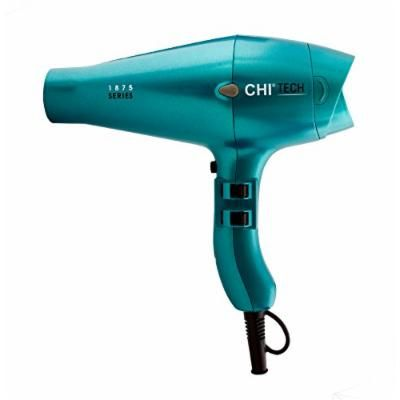 CHI Tech 1875 Limited Edition Series Hair Dryer with Rapid Clean Technology, Teal, 0.5 lb.