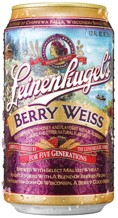 Leinenkugel's Berry Weiss Can Bottle W/Pour Bier