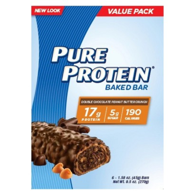 Pure Protein Double Chocolate Peanut Butter Crunch Bar - 6 Count (1.