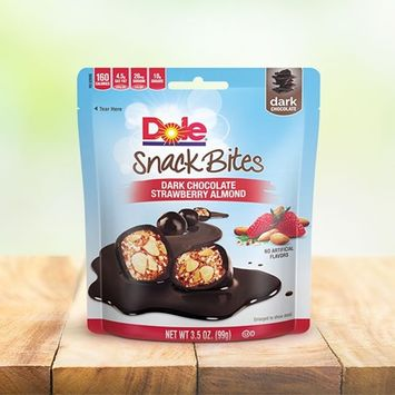 Dole Snack Bites Dark Chocolate Strawberry Almonds
