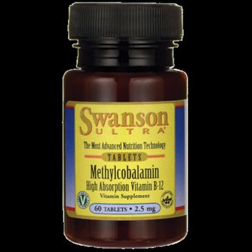 Swanson Vitamin B-12 Methylcobalamin - Cherry Flavored 2,500 mcg 60 Tabs