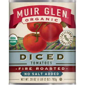 Muir Glen Organic Diced Tomatoes Fire Roasted No Salt