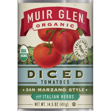 Muir Glen Organic San Marzano Style Diced Tomatoes With Italian Herbs, 14.5 oz