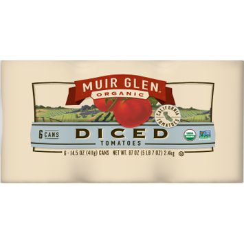 Muir Glen Organic Diced Tomatoes, 87 oz